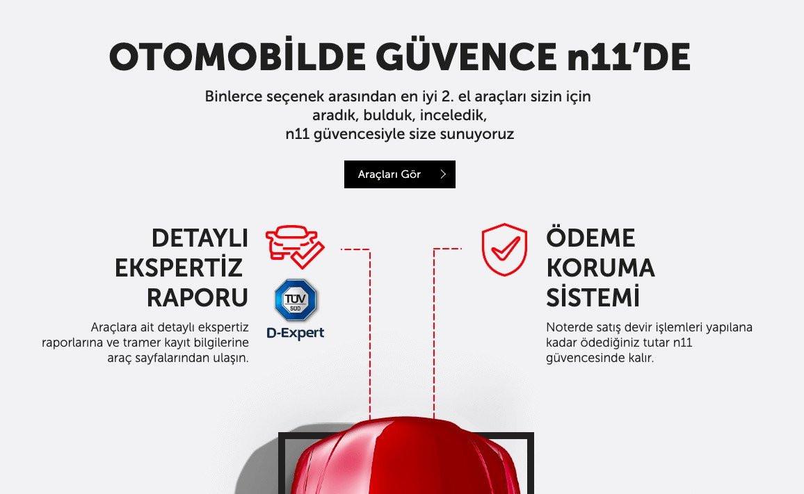N11.com Artık İkinci El Araç Satıyor